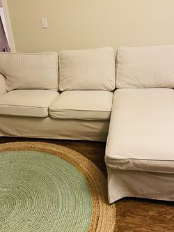 Sofa with Chaise, Ektorp Etna Beige Used Like New for Sale in Kissimmee,  FL