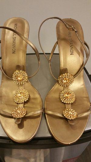Gold Medallion Leather Sandals for Sale in Atlanta, GA