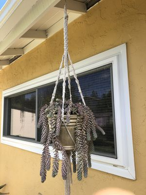 Macrame for hanging plant for Sale in La Mesa, CA