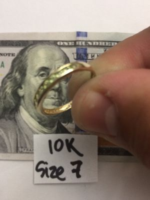 10K Solid Gold Wedding Ring size 7 for Sale in Hialeah, FL