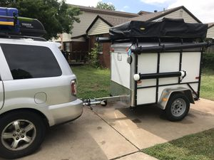Custom built 4x6 cargo trailer with pop out tent for Sale in Tulalip, WA