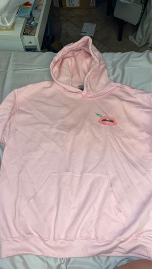 Women's graphic hoodie light pink size large for Sale in Santa Ana, CA