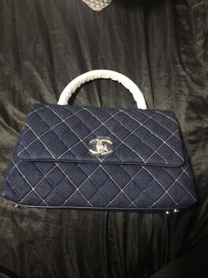 CHANEL Denim Quilted Mini Coco Handle Flap for Sale in The Bronx, NY