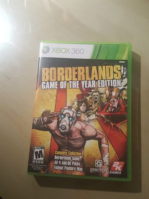 Borderlands Game of the Year Edition for Xbox 360 for Sale in NO POTOMAC, MD