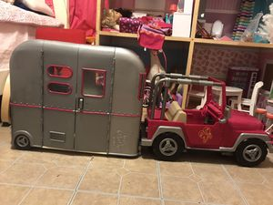 Og girl doll camper and Jeep for Sale in Midlothian, TX
