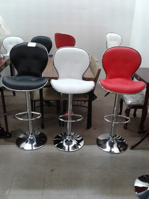 Beautiful, NEW modern barstools in back, white or red. $80 each. for Sale in Miramar, FL