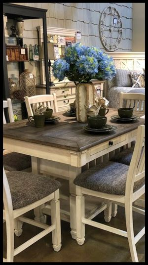 💯Ashley Bolanburg Antique White/Oak Counter Height Set for Sale in Silver Spring, MD