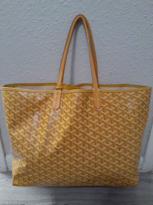 Goyard Bag Jaune Louis Gm Yellow Coated Canvas Tote for Sale in Houston, TX