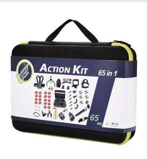 kaxionage 65-in-1 Gopro Accessory Kit for Hero 3-7 & 1-3 Hero Session 5 Black Akaso Ek7000 Apeman Sj4000, 5000, 6000 Dbpower AKASO for Sale in Rancho Cucamonga, CA