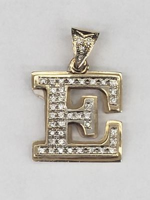 10k diamond E name initial charm Pendant for Sale in Los Angeles, CA