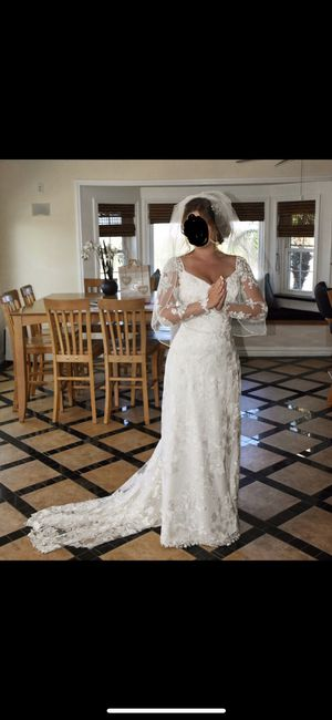 Wedding dress, veil, hair pieces, detachable sleeves for Sale in Mary Esther, FL