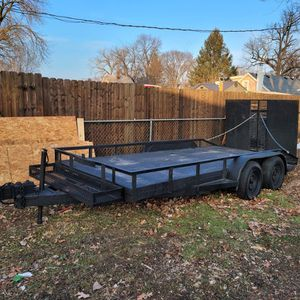 STEEL TRAILER 16×7 - HOMEMADE TITLE for Sale in Aurora, IL