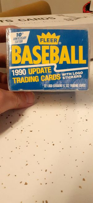 Unopened 1990 Fleer baseball trading cards -132 cards for Sale in Brainerd, MN
