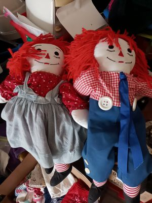 Raggedy Ann and Andy 20 for both for Sale in Watauga, TX