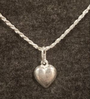 .925 PUFF HEART NECKLACE for Sale in Sacramento, CA