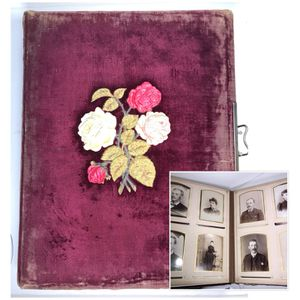 Antique 1800s Photo Album 99 Victorian Photograph Collection Portraits for Sale in Delray Beach, FL