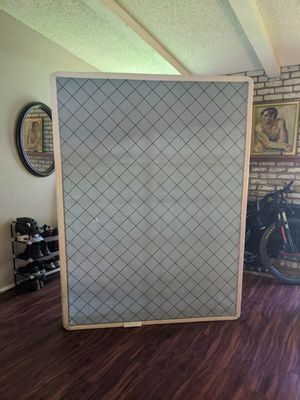 Queen size box spring with elevated frame for Sale in Austin, TX
