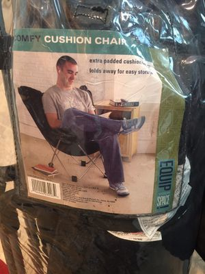 Comfy cushion chairs, black, set of two. for Sale in Alexandria, VA