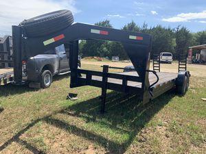 25 ft gooseneck lowboy trailer. Reg in hand for Sale in Hockley, TX