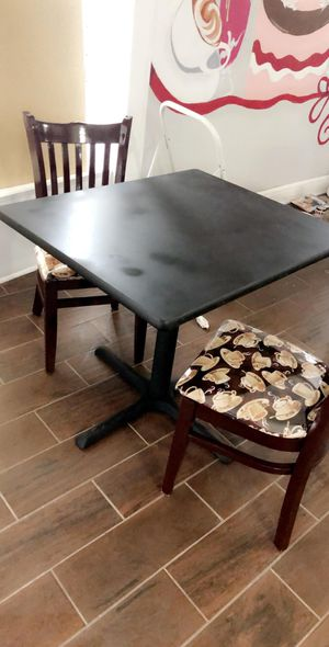 Restaurant chairs and 4 tables for Sale in Elizabeth, NJ