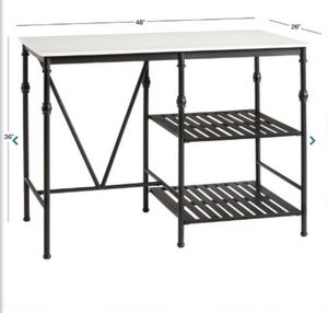 Quartz and Metal Kitchen Island - BRAND NEW IN BOX for Sale in Florham Park, NJ