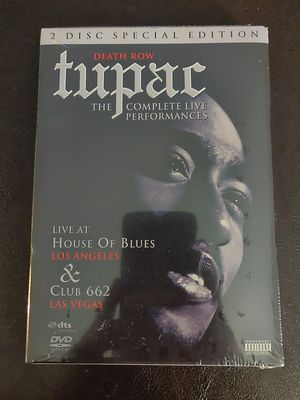 Death Row Tupac The Complete Live Performances 2 Disc Special Edition DVD Set for Sale in San Fernando, CA