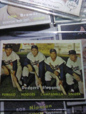 Huge 1957 topps baseball card lot and more . for Sale in Hanford, CA