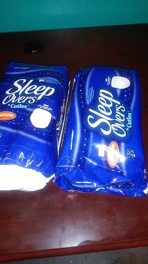 Sleep overs xl adult diapers 2 packs $12 firm for Sale in Port Richey, FL