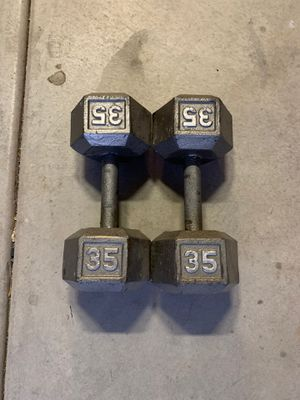 35 pound Dumbbells set for Sale in Fontana, CA