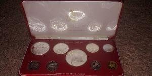 1974 Bahamas Silver Proof Set 9 Coin Set UNC Franklin Mint COA for Sale in Evington, VA