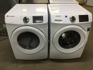 (Anoka 11146-EF AS) Samsung White Front Load Washer and Electric Dryer for Sale in Ramsey, MN