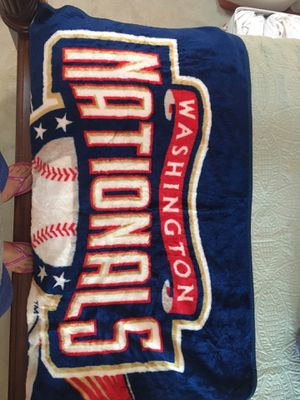Nationals throw blanket for Sale in Springfield, VA