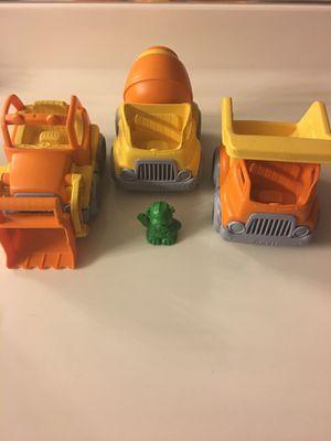 Green toys construction trucks bundle USA for Sale in Las Vegas, NV
