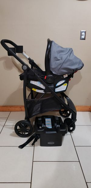 Graco click connect car seat w stroller for Sale in Pasadena, TX