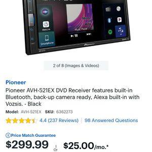 Pioneer Double Din AVH-521EX Like New for Sale in Mesa, AZ
