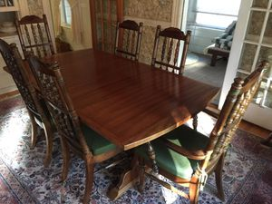 Antique Pecan Wood Dining Table for Sale in Peabody, MA