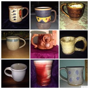 (9) Handmade Clay & Stoneware Pottery Cups Mugs for Sale in Citrus Heights, CA