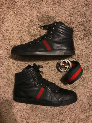 Gucci Leather High Top Sneakers for Sale in Phoenix, AZ