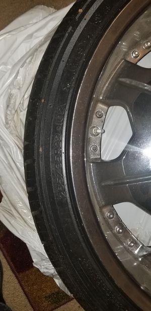 "22"" inch rims and tires. Shift brand. 5 lug, 265 35 R22. for Sale in Lorton, VA"