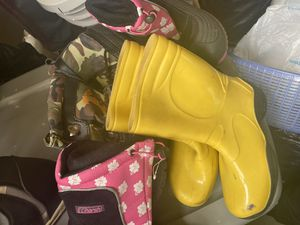 Snow boots and rain boots 3 pairs for Sale in Garden Grove, CA