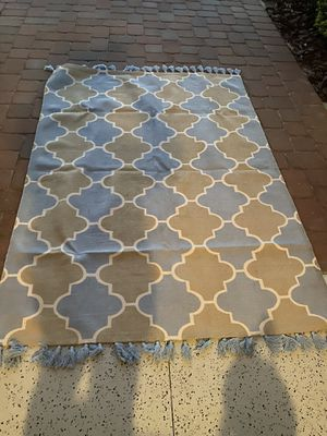 Blue and Beige Rug SITARA (made India) for Sale in Lutz, FL
