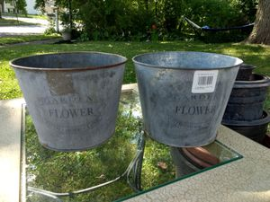 Metal flower pots for Sale in Mansfield, OH