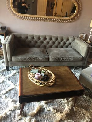 World market Kendall tufted mid century living room sofa chair ottoman for Sale in Fairfax, VA