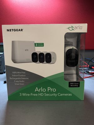 Arlo pro Wireless Security Cams (New in box) for Sale in Gainesville, GA