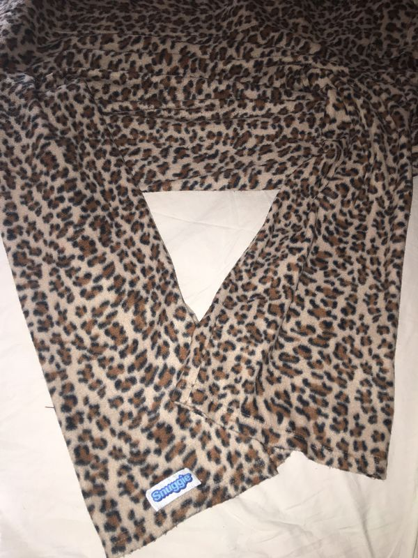Leopard print Snuggie - the Blanket with Arms