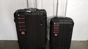 GABBIANO 2 PIECE LUGGAGE SET $85.00 BRAND NEW 8 WHEELS SPINNERS LIGHT WEIGHT EXPANDER SYSTEM WATER RESISTANT BUILT-IN TSA LOCK. for Sale in HALNDLE BCH, FL