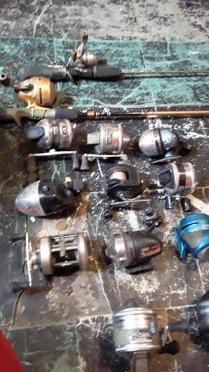 Fishing reel and rods lot for Sale in Wood River, IL