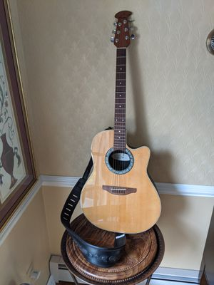 Ovation Electric acoustic guitar with 270W Fender amp for Sale in Fairfield, CT
