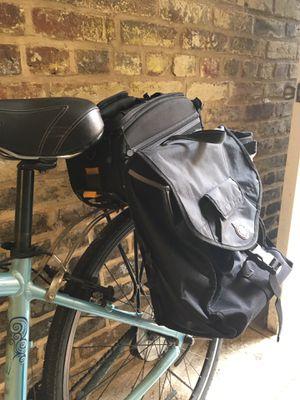 Topeak explorer bike rack, trunk bag, and pannier bag! Like new, Free installation for Sale in Washington, DC