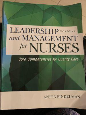 Book+Test Bank Leadership and Management for Nurses 3rd Edition Finkelman for Sale in Orlando, FL